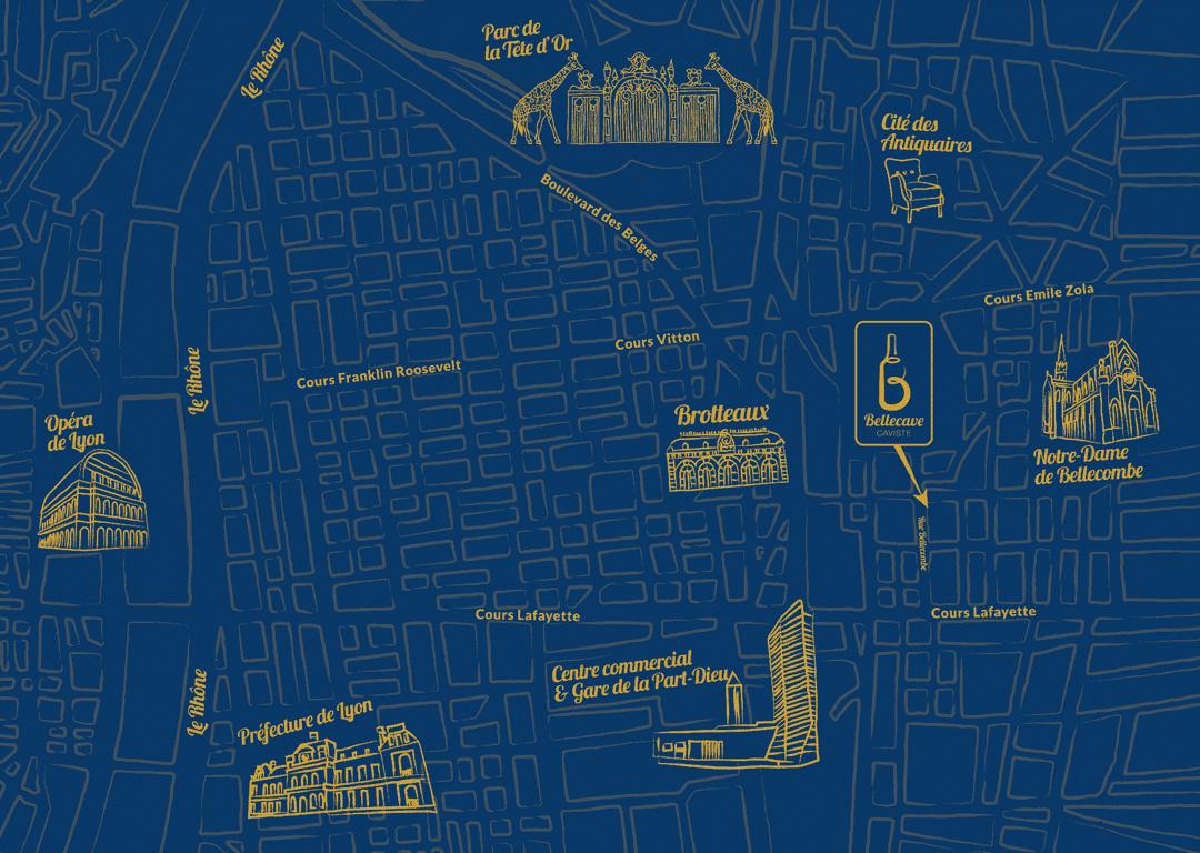 Plan d'accès Bellecave